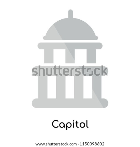 Capitol icon vector isolated on white background for your web and mobile app design, Capitol logo concept