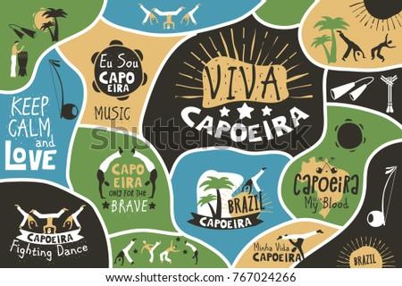 capoeira brazil poster