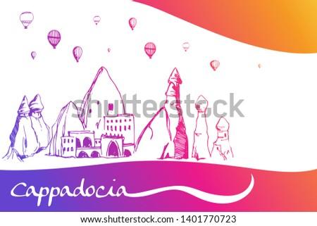 cappadocia hand drawn turkish
