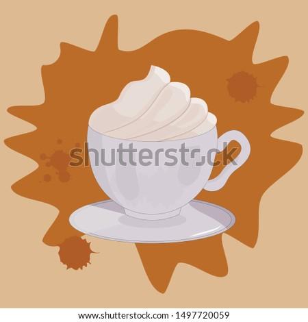 cappuccino coffee vector cappuccino cup