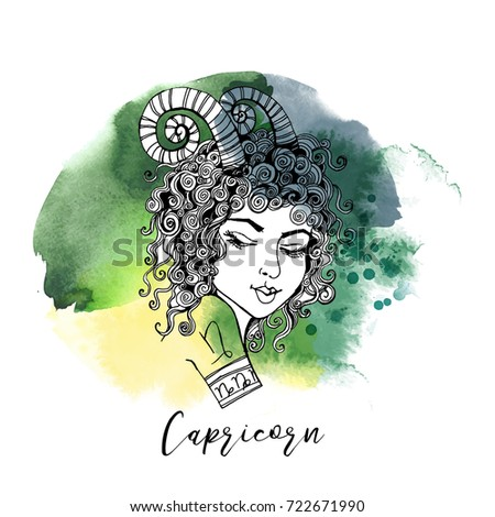 Capricorn. Zodiac signs girl