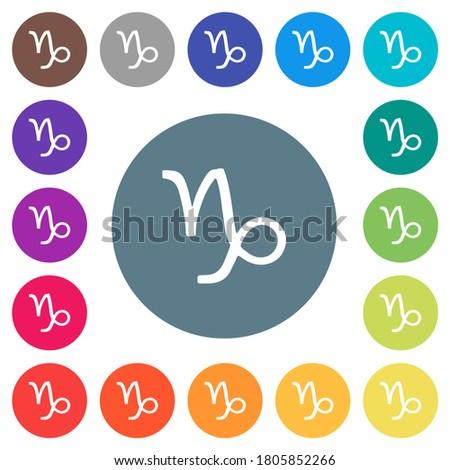 capricorn zodiac symbol flat