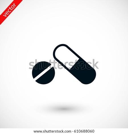 capsule vector icon, flat design best vector icon