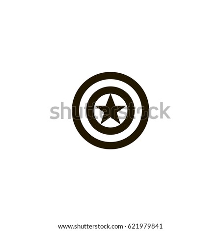 captain america icon sign