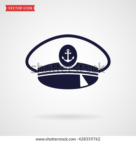 2705731eb46 Captain hat icon isolated on white background. Sea