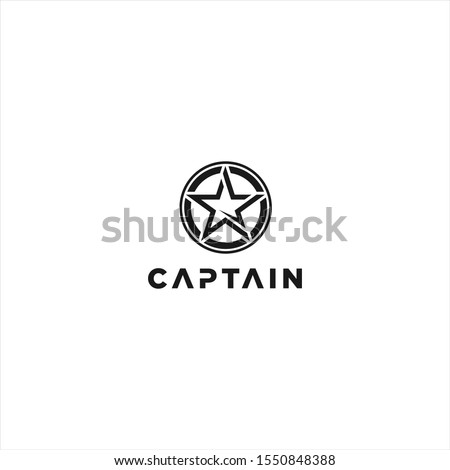 captain logo design template