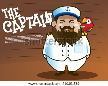 Captain marine with parrot