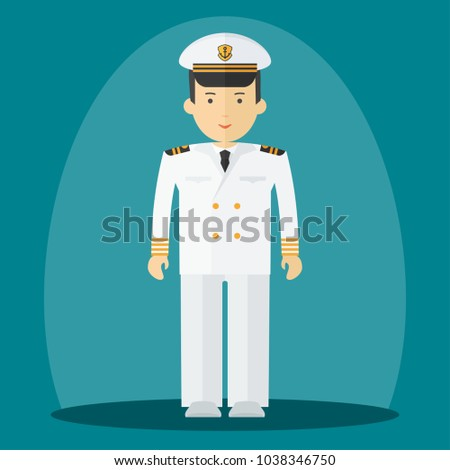 66dd7c9d5c3bd Captain of ship in white suit. Command of military cruiser
