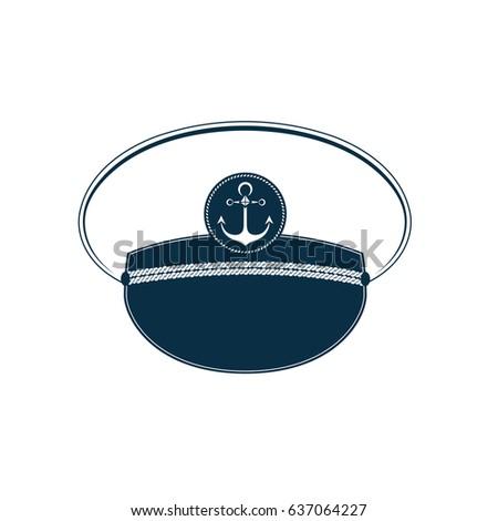 captain's hat icon. sailor cap. ...
