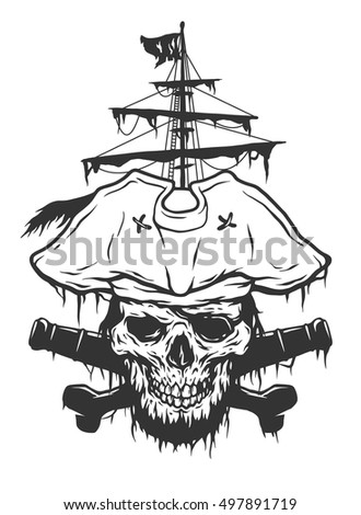 captain skull on a background...