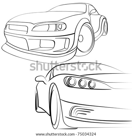 Car Engine Line Drawing Background - Download Free Vector Art, Stock ...