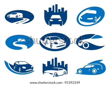 car abstract element set of