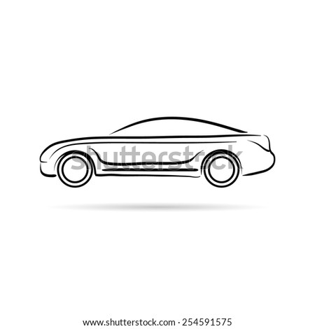 car abstract lines vector