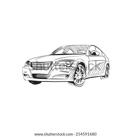 car abstract vector design