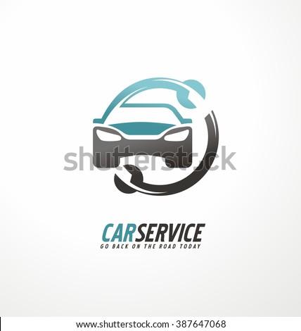 car abstract vector logo design