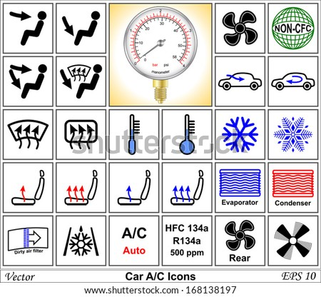 Free Vector Car Dashboard Icons Download Free Vector Art Stock