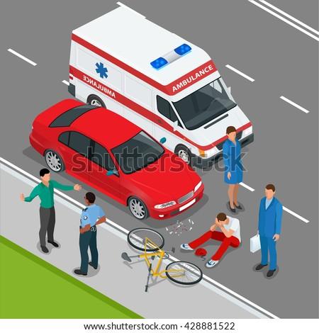 car accident car crash flat