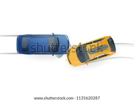 car accident car crash top