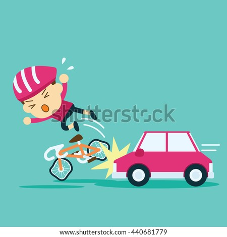 car accident crash cyclist ride