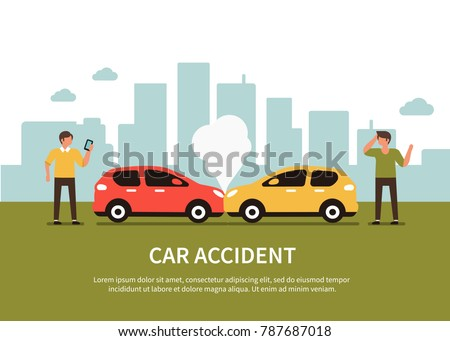 car accident infographic with