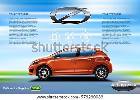 car ads template mock up  with