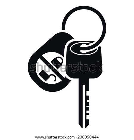 Car Alarm and Key Icon, Vector Illustration