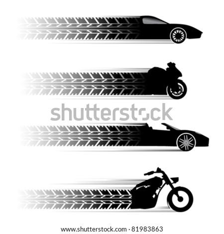 car and motorbike symbols