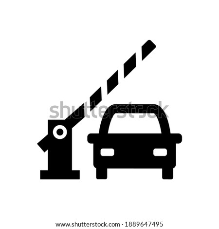 Car and parking security barrier gate vector icon Stockfoto ©