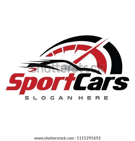 Stock Photo Car and Speed Automotive Logo Vector Illustration