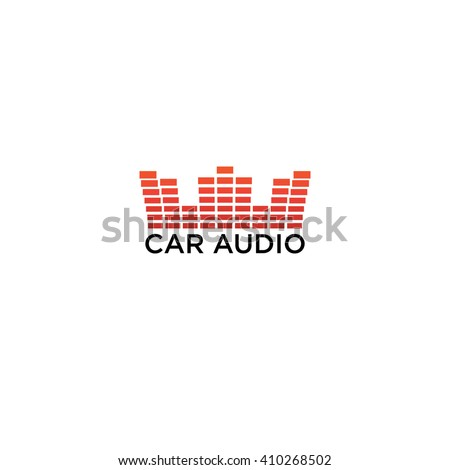 car audio logo on white