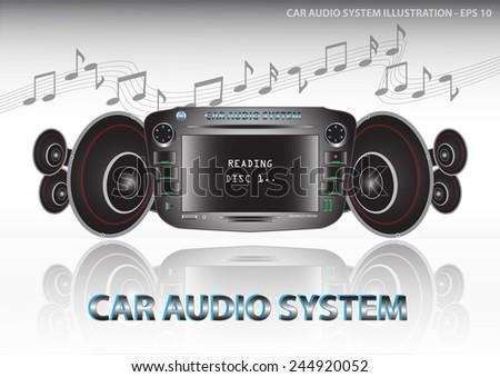 car audio with speakers   car