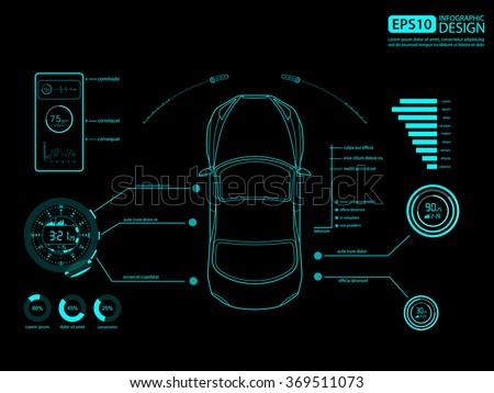 car auto service infographics