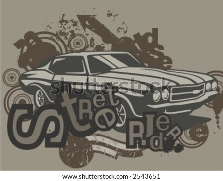Car Backgrounds Series in Grunge Style. Check my portfolio for much more of this series as well as thousands of similar and other great vector items.