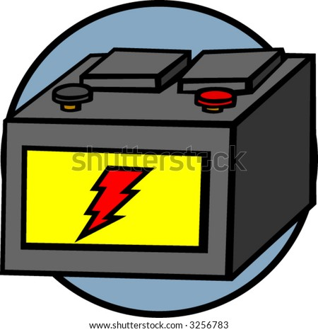 Batteries   on Digital Illustration Of A Car Battery Icon Find Similar Images