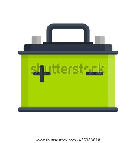 car battery icon isolated on