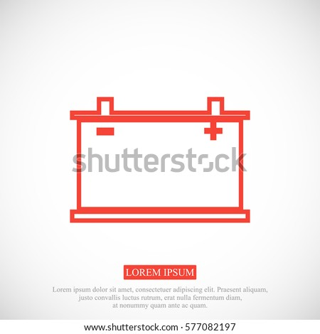 car battery icon. Vector Eps 10, vector best flat icon, EPS