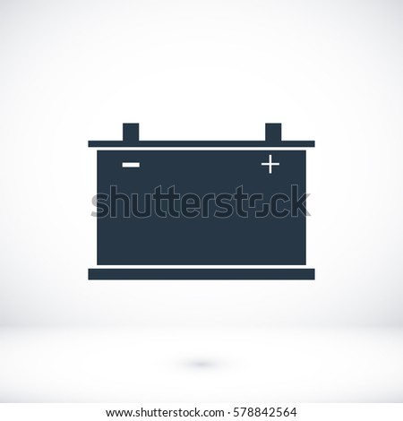 car battery icon. Vector, vector best flat icon, EPS