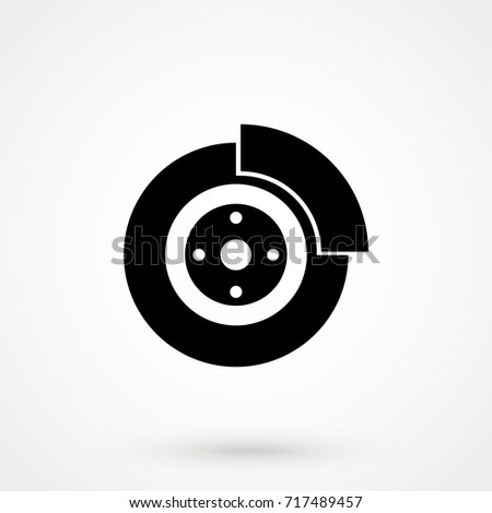Car Brake Disk Flat Icon isolated on background. Modern flat pictogram, business, marketing, internet. Trendy Simple vector symbol for web site design or button to mobile app. Logo illustration