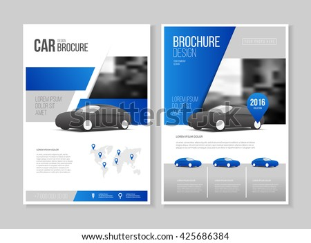 Car brochure. Auto Leaflet Brochure Flyer template A4 size design, car repair business catalogue cover layout design, Abstract presentation template