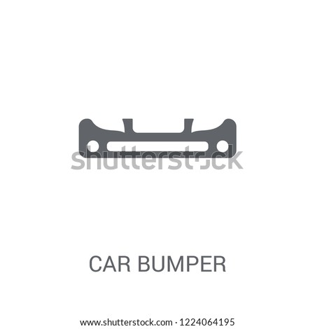 car bumper icon. Trendy car bumper logo concept on white background from car parts collection. Suitable for use on web apps, mobile apps and print media.