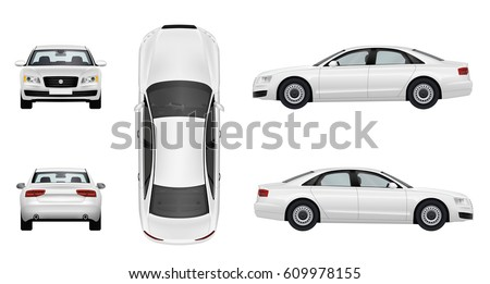 car business sedan  isolated on