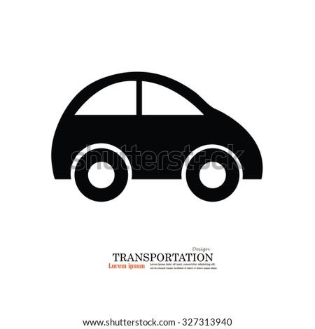 Car .car icon. Transportation icon.Vector illustration.