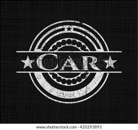 Car chalk emblem