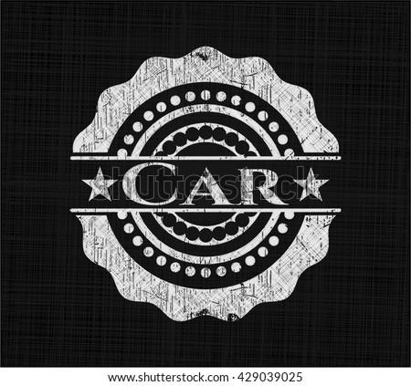 Car chalkboard emblem