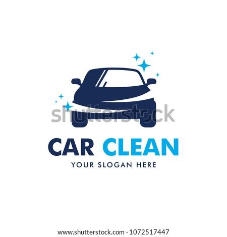 Car Clean Logo Design Vector
