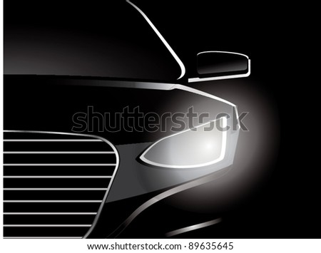 car close up vector