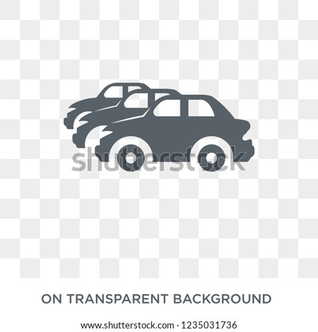 Car collection icon. Trendy flat vector Car collection icon on transparent background from Luxury collection.