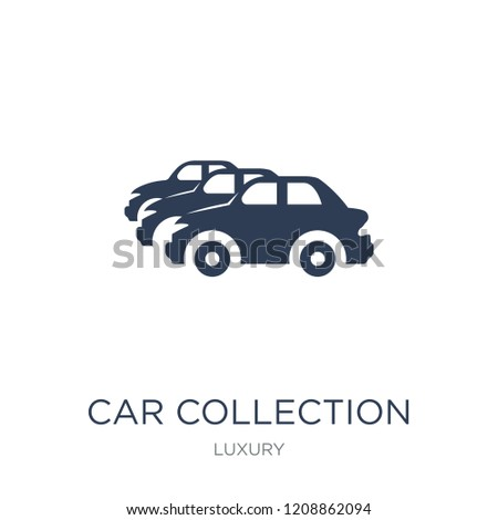 Car collection icon. Trendy flat vector Car collection icon on white background from Luxury collection, vector illustration can be use for web and mobile, eps10