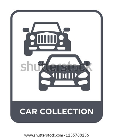 car collection icon vector on white background, car collection trendy filled icons from Luxury collection, car collection simple element illustration