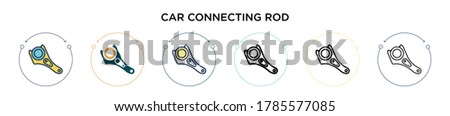 car connecting rod icon in